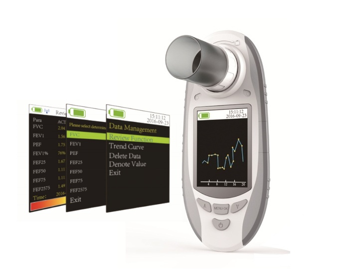 SPIROMETER is a hand-held equipment for checking lung conditions